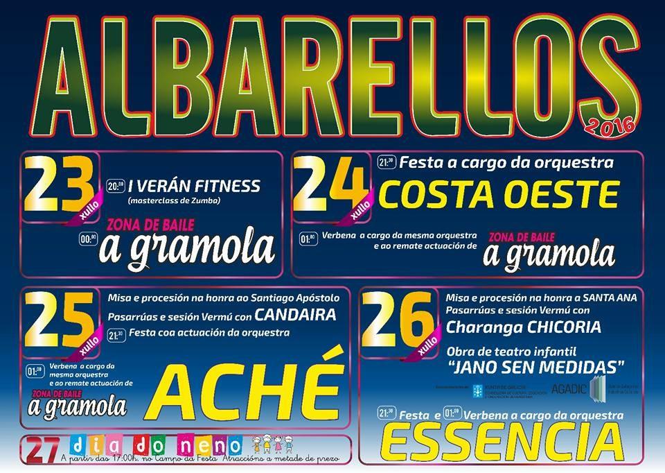 CARTEL FESTAS DE ALBARELLOS 2016