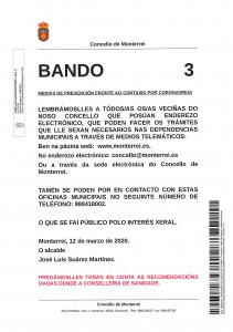 BANDO Nº 3 INFO. CORONAVIRUS