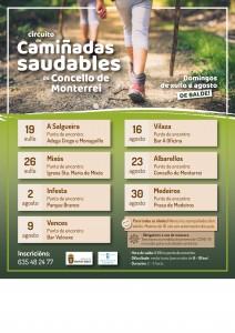 Cartaz Camiñatas Saudables Monterrei - verán 2020 - v2
